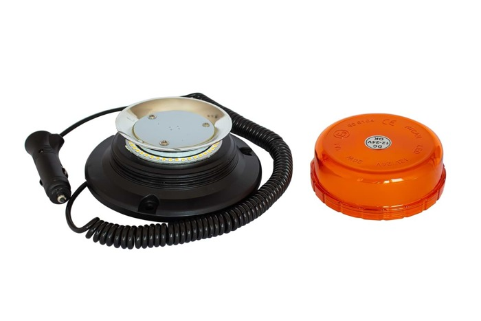 Avertizor optic ,,girofar'' cu LED pe magnet 400