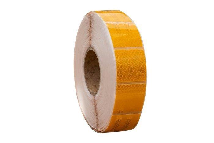 Banda reflectorizantă galbenă segmentată - 1 m