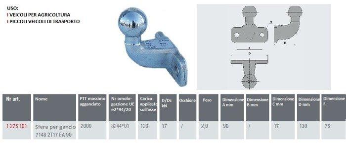 Bilă cârlig de remorcare AL-KO 2000KG, rezistent