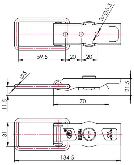 Dispozitiv închidere obloane cu broască pe cheie SPP Steelpress ZB-13A