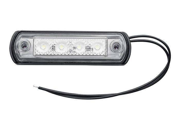 Lampă gabarit cu LED pe flanșă din cauciuc Horpol albă