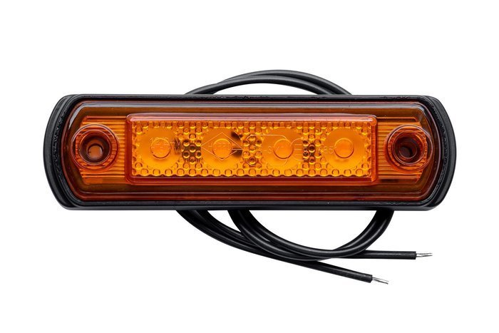 Lampă gabarit cu LED pe flanșă din cauciuc Horpol portocalie