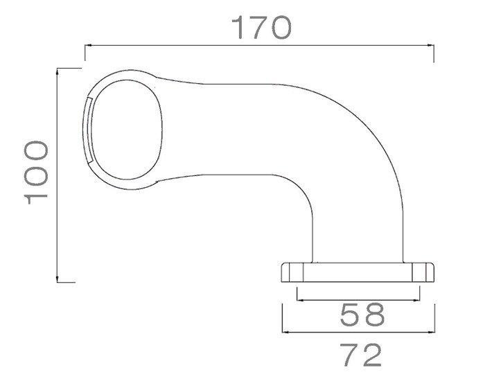 Lampă gabarit dreapta pentru remorci auto - Aspöck Superpoint II 0,9m