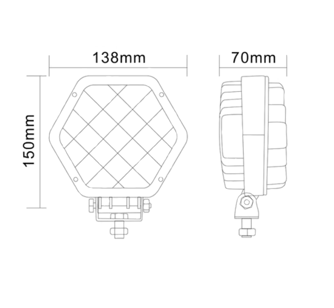 Lampă gabarit ovală laterală 16 LED 48W
