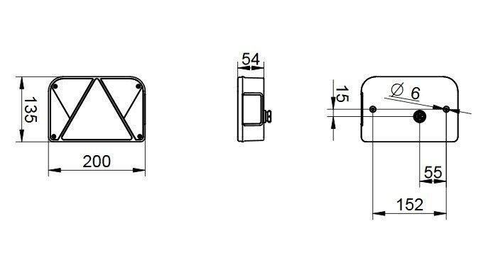 Lampă spate stânga Multipoint V pentru remorci auto DOBPLAST DPT 35