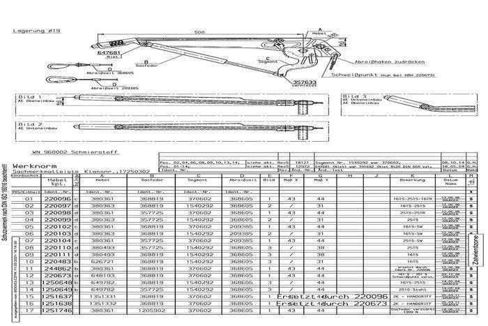 Manetă frână inerțială AL-KO 161S, 251S, 251G