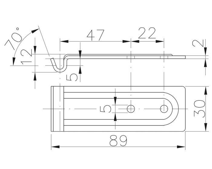 Placă pentru închizătoare oblon BVG 60-A Winterhoff