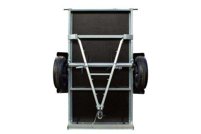 Remorca 750kg cu roată de sprijin, expensii obloane și schelet prelată cu prelată inclusă Garden Traler 200