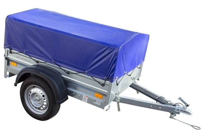 Remorca auto 150 x 106 cu schelet pentru prelată și prelată, Garden Traler 150 Unitrailer, masa totală maximă admisă de 750kg