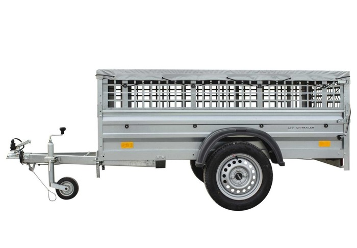 Remorca auto 200 x 106 Garden Traler 200 Unitrailer, masa totală maximă admisă de 750 kg