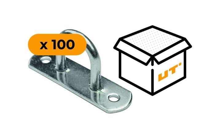 SET: 100 x Ochet obloane flexibil din oțel galvanizat H-25 mm (07.25)