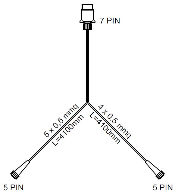 Set: lămpi combinate spate DPT 35 cu cablaj de 4 m cu 7 pini